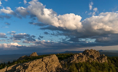 ural: Cloudscape over South Ural mountains