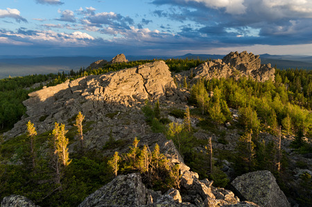 urals: Eveningtime at mountains, South Urals, Russia