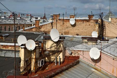 housetop: Roofs of Saint-Petersburg, Russia