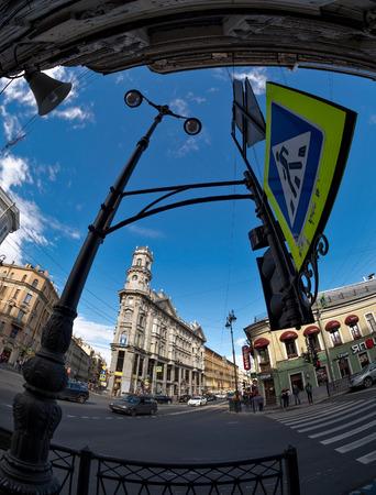 ST.PETERSBURG, RUSSIA - September 15: Five Corners crossing (exists since 1760s) in Saint Petersburg, Russia on September 15, 2016 Editorial