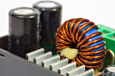 electrolytic: Inductance coil and capacitors of power supply unit