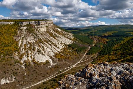 Besh-Kosh mountain near by Bakhchisaray in Crimea