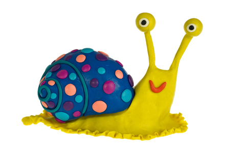 Snail made of plasticine