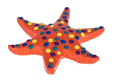 Funny Starfish made of plasticine