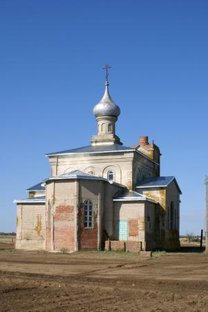 monolithic: Russia, Rostov oblast.Tsimlyansk. kh Karpovsky-church of St. George (the old monolithic church built in 1914)                      Stock Photo
