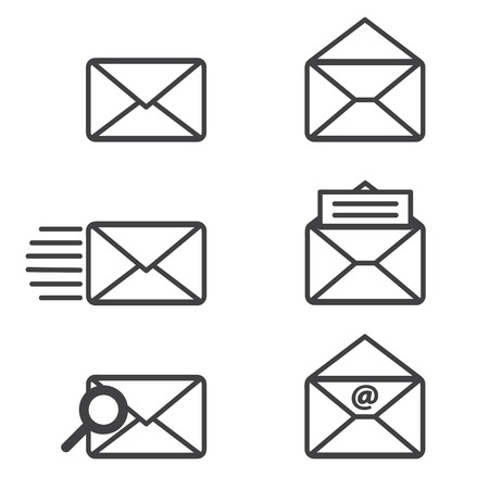 mail: Mail icons. Illustration
