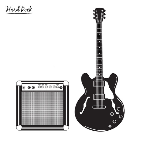 amp: electric guitar and combo, hard rock style.