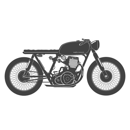 Oude vintage motorfiets. cafe racer thema.
