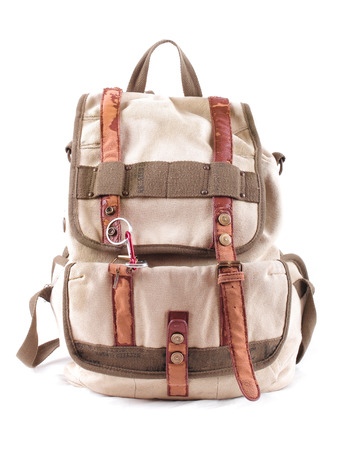 travel backpack isolated on a white background