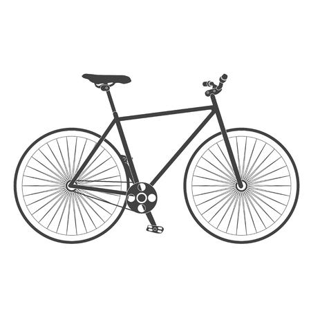 bike vector: retro classic road bike. vector illustration.