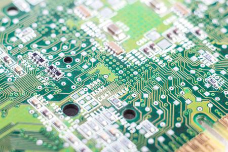 electronic board: microchip closeup, Electronic Board.