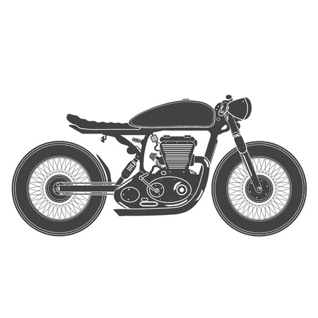 sports race: Old vintage motorcycle. cafe racer theme.