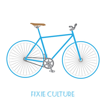 fixed: fixed gear bicycle culture isolated on white background.