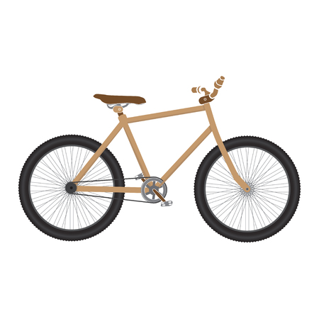 mtb: MTB Bicycle brown isolated. bike for tricks.
