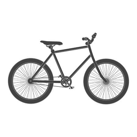 circuit brake: MTB black Bicycle isolated. bike for tricks.