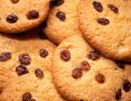 American raisin cookies. close-up. Zdjęcie Seryjne