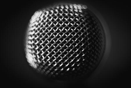 microphone on stage. close-up macro. vintage object Zdjęcie Seryjne