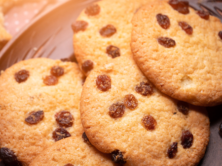 appetizing american cookies. close-up