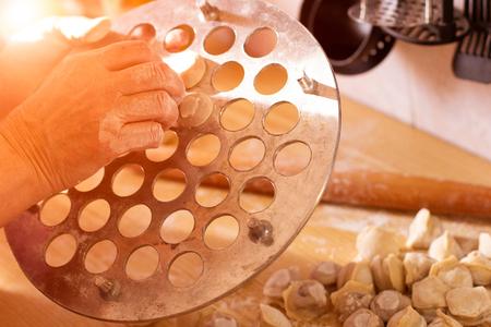 cooking homemade ravioli. close-up. Zdjęcie Seryjne