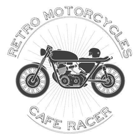 retro motorcycle caferacer Ilustracja