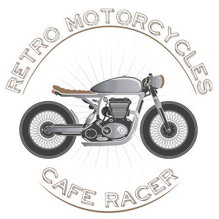 Old vintage motorcycle logo. cafe racer theme.