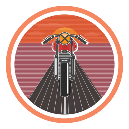 Retro poster with vintage motorcycle. vector illustration