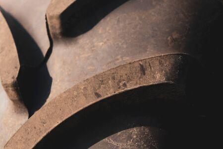 tractor wheel tread. Stok Fotoğraf