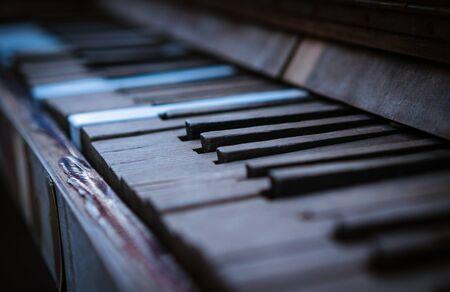 old, vintage piano. macro plan. close up. 写真素材