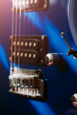 electric guitar close-up. sun glare 写真素材