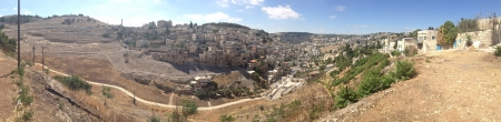 panning shot: Settlements outside Jerusalem Stock Photo