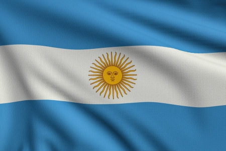 3d illustration flag of Argentina Stock Photo