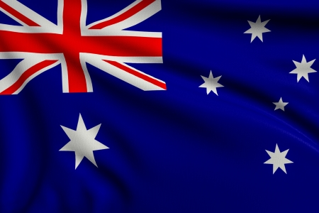 australia: 3d illustration flag of Australia