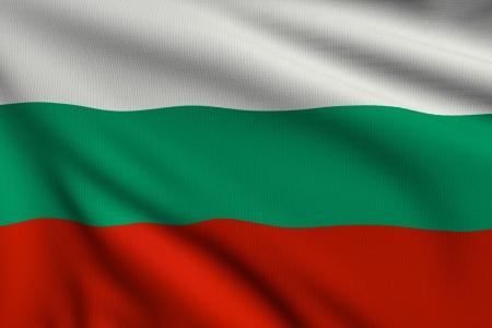 3d illustration drapeau de la Bulgarie