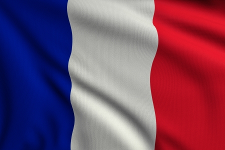 3d illustration flag of France illustration