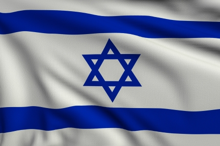 3d illustration flag of Israel illustration