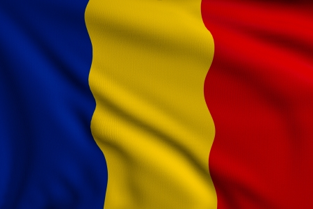 3d illustration flag of Romania