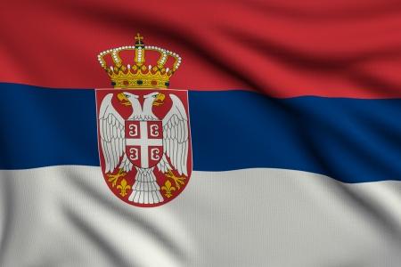 3d illustration flag of Serbia illustration