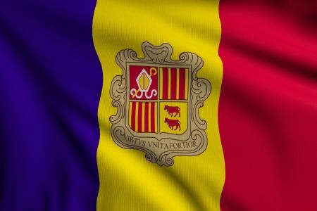 3d illustration flag of Andorra illustration