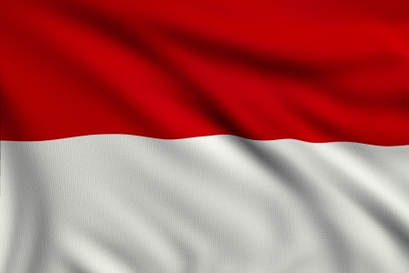 3d illustration flag of Indonesia Stock Photo
