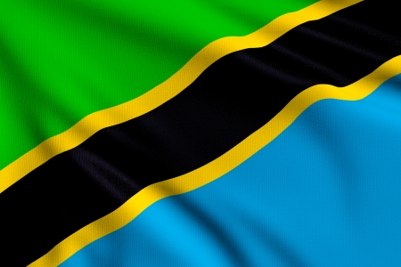 3d illustration flag of Tanzania