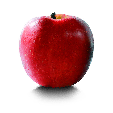 Red apple on a white background Иллюстрация