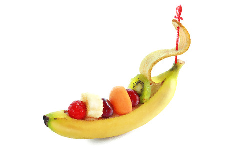 Composition from fruit garden-stuffs as a ship