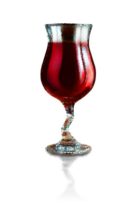 photorealism: Red wine in a glass