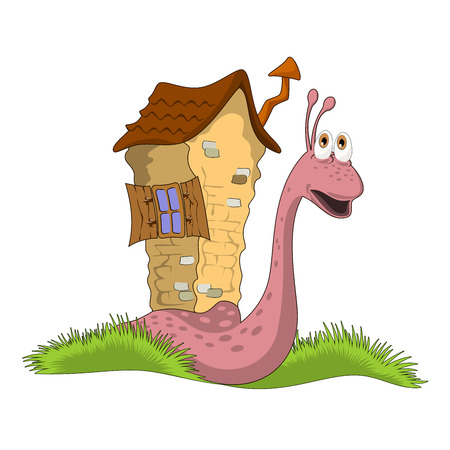cosiness: illustration snail with a house