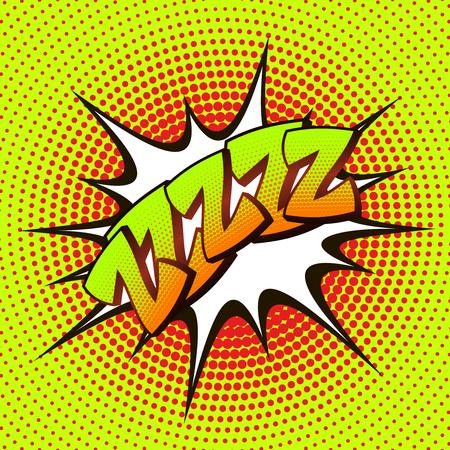 drowsiness: ZZZZZ pop art on a background of halftone. Retro comics. Illustration