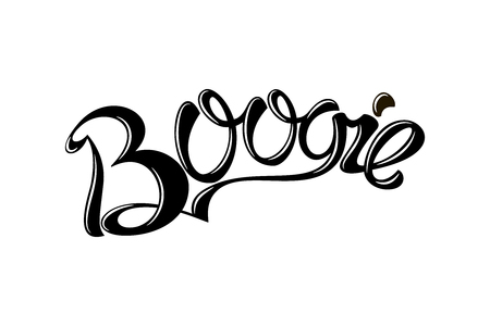boogie: Boogie lettering on a white background. Vector illustration