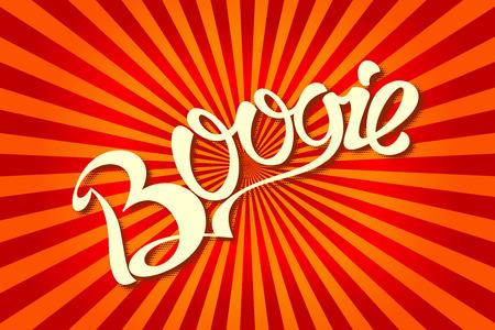 boogie: Pop Art comics icon Boogie. Speech Bubble Vector illustration.