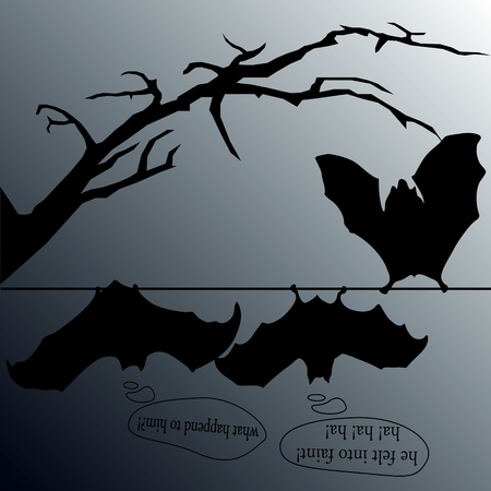 jest: comic bats Illustration