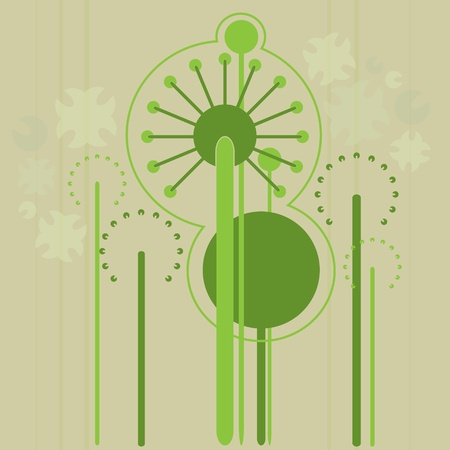 green flowers background Stock Vector - 12484079