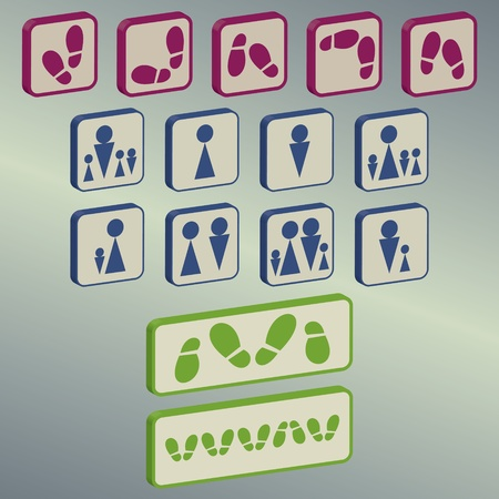 different icons collection Vector